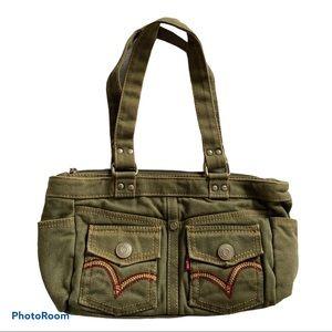 Levi's Canvas Small Olive Women Tote Shoulder Bag
